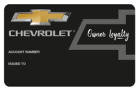 Corporate Embossed Card example