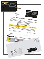 Corporate Branded Embossed Card Mailer example